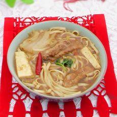辣白菜排骨火锅面