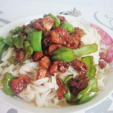 青椒肉丝面的做法