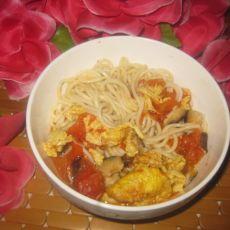 香菇鸡蛋西红柿面