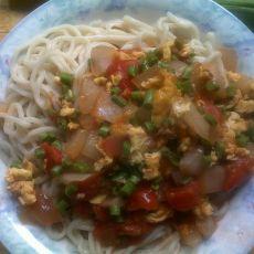 西红柿鸡蛋干拌面