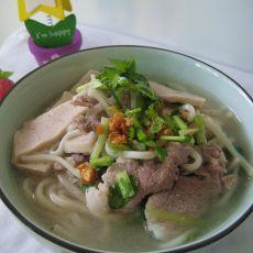潮式肉片面汤的做法