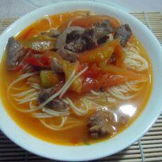 西红柿肉丝面的做法