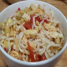西红柿鸡蛋酱香面