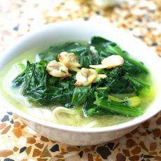 菠菜海鲜面