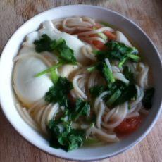 西红柿鸡蛋热汤面
