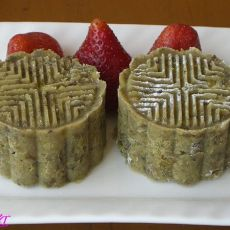 玫瑰绿豆糕