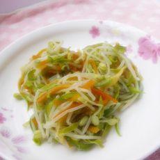 凉拌豆芽菜—附发绿豆芽过程的做法