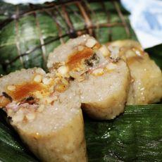 咸蛋猪肉绿豆粽