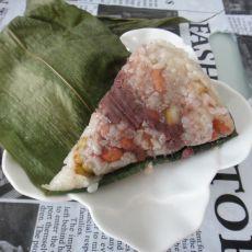 五彩豆沙粽