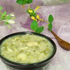 鲜百合绿豆粥