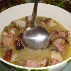 猪蹄炖绿豆的做法
