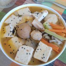 泡菜豆腐鲜蔬锅的做法