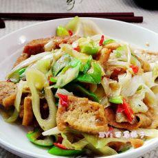 香辣大葱焖豆腐