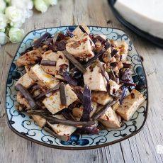 香辣蕨菜炒豆腐