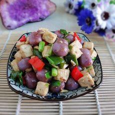 豆腐炒紫山药汤圆