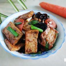 野生菌熟菌粉烧豆腐
