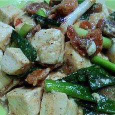 虾米煮豆腐的做法