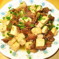 豆腐烩肉片的做法