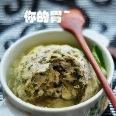 清蒸香椿豆腐素狮子头