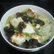 黑木耳豆腐炖白菜的做法