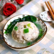 清蒸豆腐蘑菇肉丸子的做法