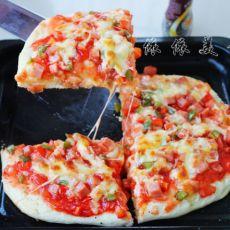 彩椒午餐肉披萨的做法