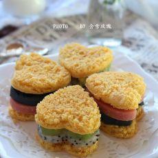 南瓜彩虹三明治