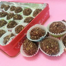 巧克力燕麦酥球