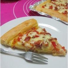番茄肉沫披萨