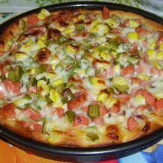 火腿蔬菜比萨