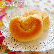 椰蓉心型面包的做法
