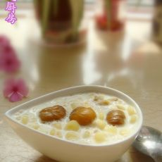 牛奶栗子燕麦粥