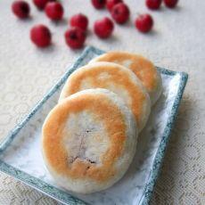 烤牛奶豆沙糯米饼