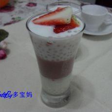草莓西米布丁