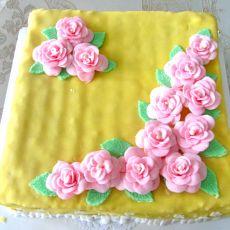 翻糖蛋糕桃花盛开