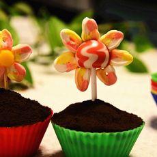 花朵杯子蛋糕的做法