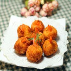 土豆虾肉球