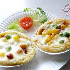 培根玉米豌豆披萨挞
