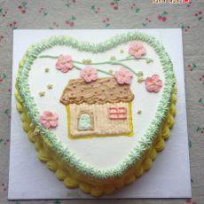 小清新房子蛋糕