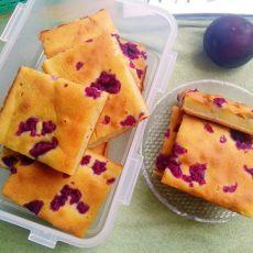 奶香紫薯烤年糕