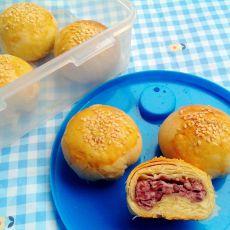 芝麻红豆酥的做法