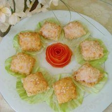 锅巴虾仁饼