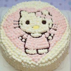 可爱的kitty猫蛋糕
