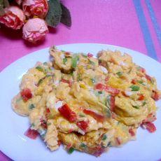 彩椒炒鸡蛋的做法