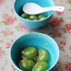 抹茶桂花汤圆的做法