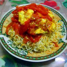 番茄鸡蛋盖面