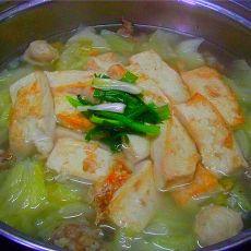 白菜豆腐肉丸煲