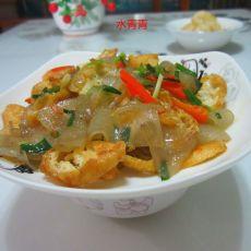 油豆腐丝炒粉皮