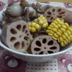 莲藕玉米炖棒骨