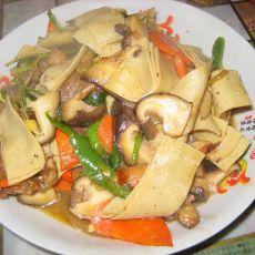 香菇炒豆皮